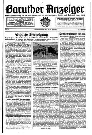 Baruther Anzeiger vom 10.07.1942