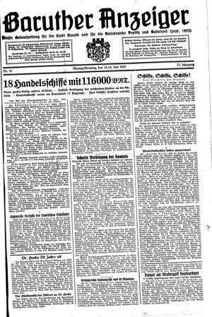 Baruther Anzeiger vom 13.07.1942