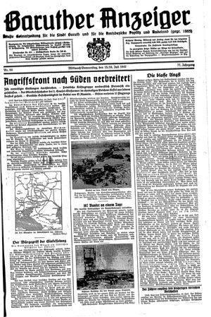 Baruther Anzeiger vom 15.07.1942