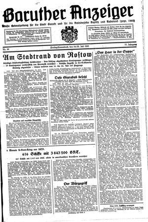 Baruther Anzeiger vom 24.07.1942