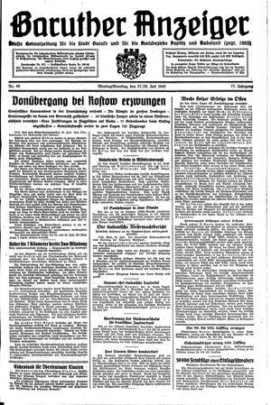 Baruther Anzeiger vom 27.07.1942