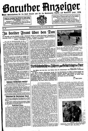 Baruther Anzeiger vom 29.07.1942