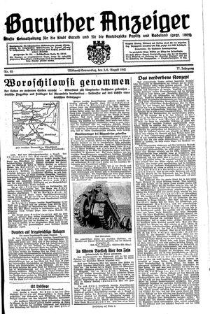 Baruther Anzeiger vom 05.08.1942