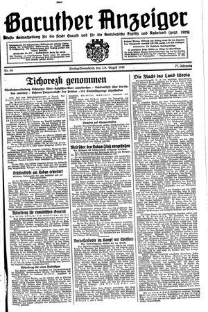 Baruther Anzeiger vom 07.08.1942
