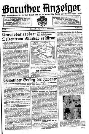 Baruther Anzeiger vom 10.08.1942