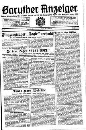Baruther Anzeiger vom 12.08.1942