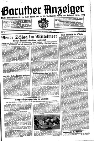 Baruther Anzeiger vom 14.08.1942