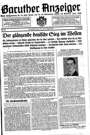 Baruther Anzeiger vom 21.08.1942