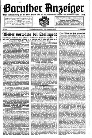 Baruther Anzeiger vom 04.09.1942