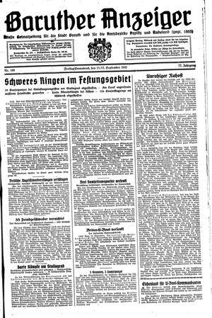 Baruther Anzeiger vom 11.09.1942