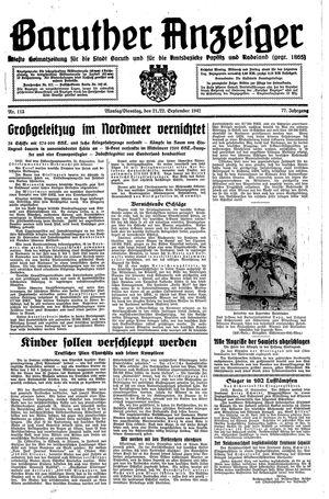 Baruther Anzeiger vom 21.09.1942