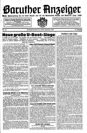 Baruther Anzeiger vom 25.09.1942