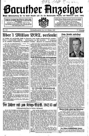 Baruther Anzeiger vom 02.10.1942