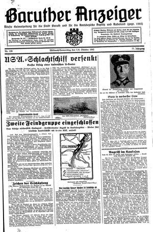 Baruther Anzeiger vom 07.10.1942