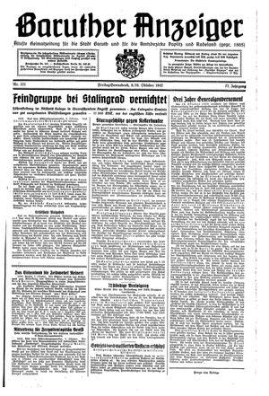 Baruther Anzeiger vom 09.10.1942