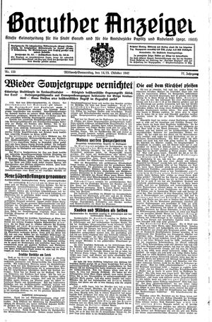 Baruther Anzeiger vom 14.10.1942