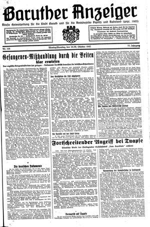 Baruther Anzeiger vom 19.10.1942