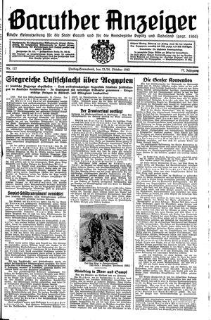 Baruther Anzeiger vom 23.10.1942
