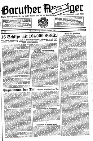 Baruther Anzeiger vom 26.10.1942