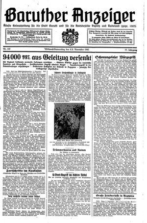 Baruther Anzeiger vom 04.11.1942