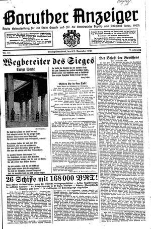 Baruther Anzeiger vom 06.11.1942