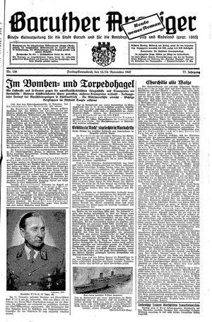 Baruther Anzeiger vom 13.11.1942