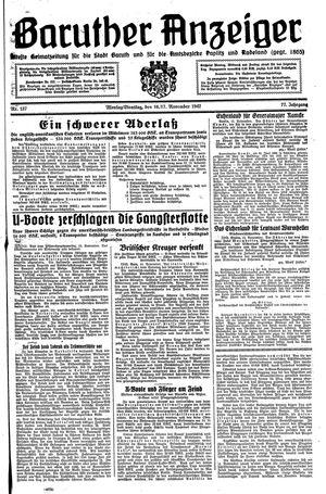 Baruther Anzeiger vom 16.11.1942