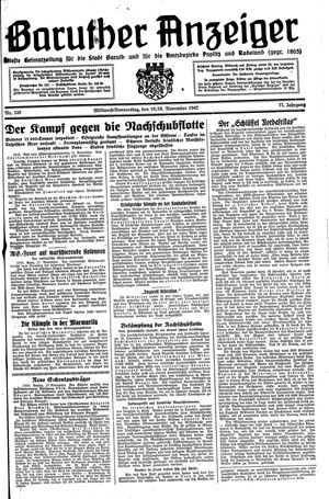 Baruther Anzeiger vom 18.11.1942