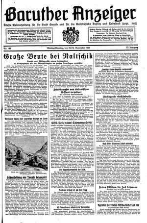 Baruther Anzeiger vom 23.11.1942