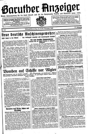 Baruther Anzeiger vom 25.11.1942
