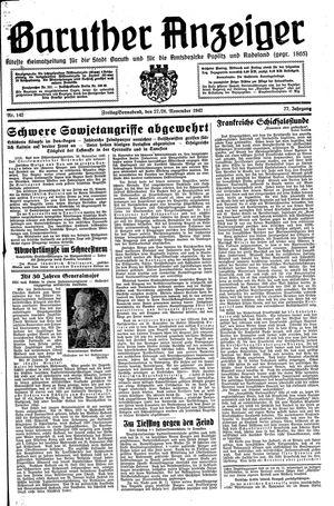 Baruther Anzeiger vom 27.11.1942