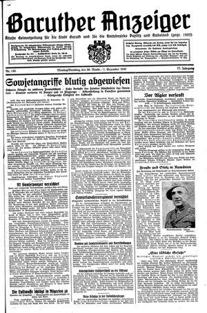 Baruther Anzeiger vom 30.11.1942