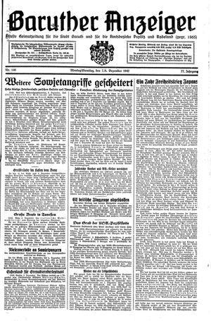 Baruther Anzeiger vom 07.12.1942