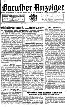 Baruther Anzeiger vom 09.12.1942