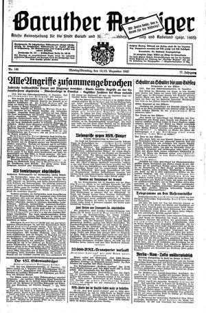 Baruther Anzeiger vom 14.12.1942