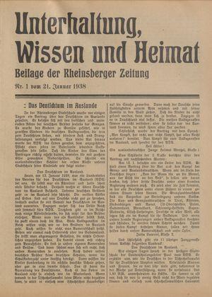 Unterhaltung, Wissen und Heimat vom 21.01.1938