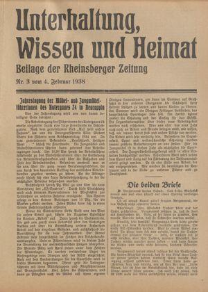 Unterhaltung, Wissen und Heimat vom 04.02.1938