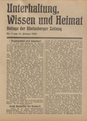 Unterhaltung, Wissen und Heimat vom 18.02.1938