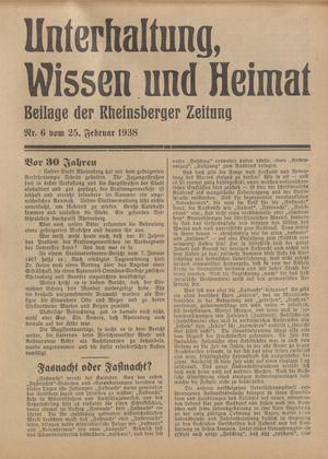 Unterhaltung, Wissen und Heimat vom 25.02.1938