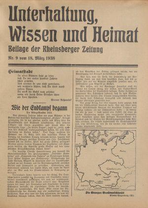 Unterhaltung, Wissen und Heimat vom 18.03.1938