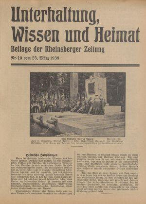 Unterhaltung, Wissen und Heimat vom 25.03.1938