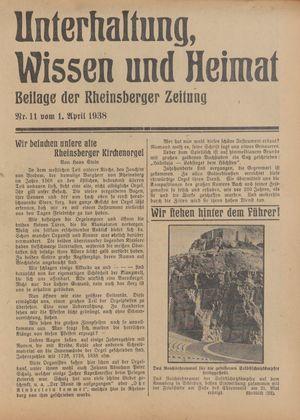 Unterhaltung, Wissen und Heimat vom 01.04.1938