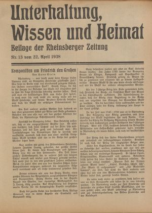 Unterhaltung, Wissen und Heimat vom 22.04.1938