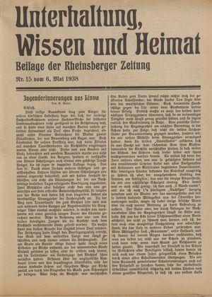 Unterhaltung, Wissen und Heimat on May 6, 1938
