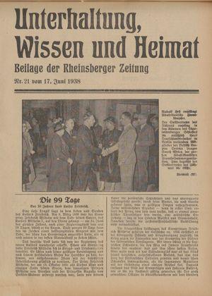 Unterhaltung, Wissen und Heimat vom 17.06.1938