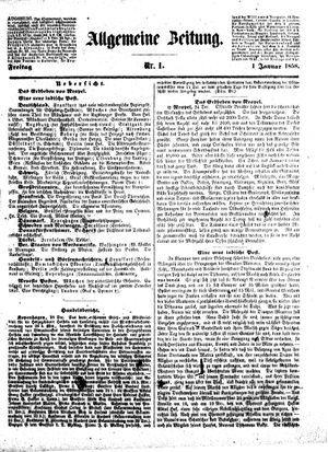 Allgemeine Zeitung on Jan 1, 1858