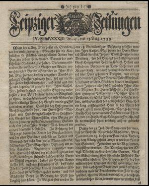 Leipziger Zeitungen vom 13.08.1739