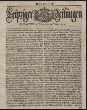 Leipziger Zeitungen on Aug 18, 1739