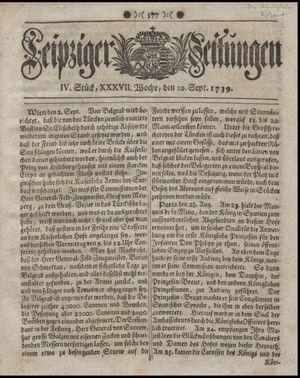 Leipziger Zeitungen vom 10.09.1739