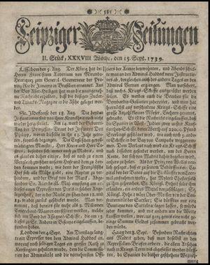 Leipziger Zeitungen vom 15.09.1739